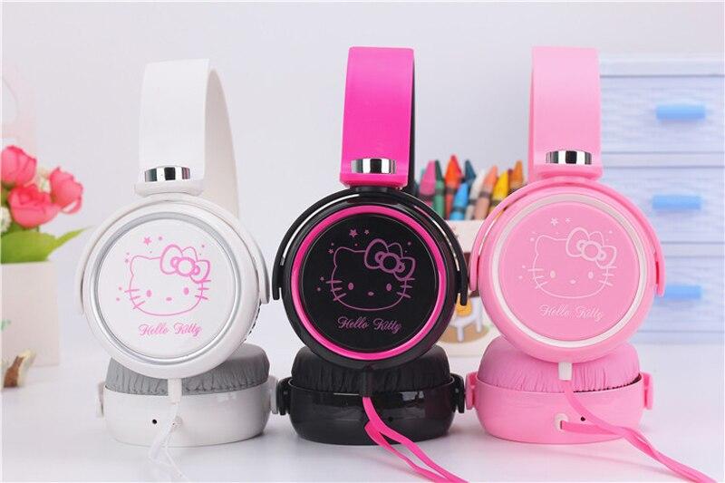 Auriculares de dibujos animados, lindos auriculares hello kitty para teléfono móvil MP3/MP4/ordenador para iphone samsung xiaomi, auriculares para niñas