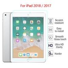 Verre trempé 9H pour Apple nouveau iPad 2018 2017 A1822 9.7 Film de protection décran couverture rigide pour iPad 9.7 2018 HD verre trempé