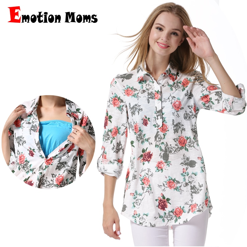 Emotion Moms Maternity Clothing Maternity Tops Breastfeeding tops pregnancy Clothes for Pregnant Women Lactation Shirts enlarge