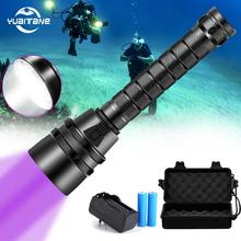 6000LM torcia subacquea a LED 5L2 5UV Flash Light lanterna torcia UV 220M subacquea viola luce bianca lanterna ultravioletta
