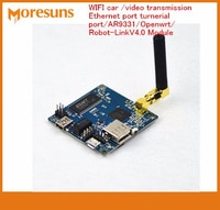 Fast Free Ship Robot Car WIFI car/video transmission/Ethernet port turnerial port/AR9331/for Openwrt/Robot-LinkV4.0 Module