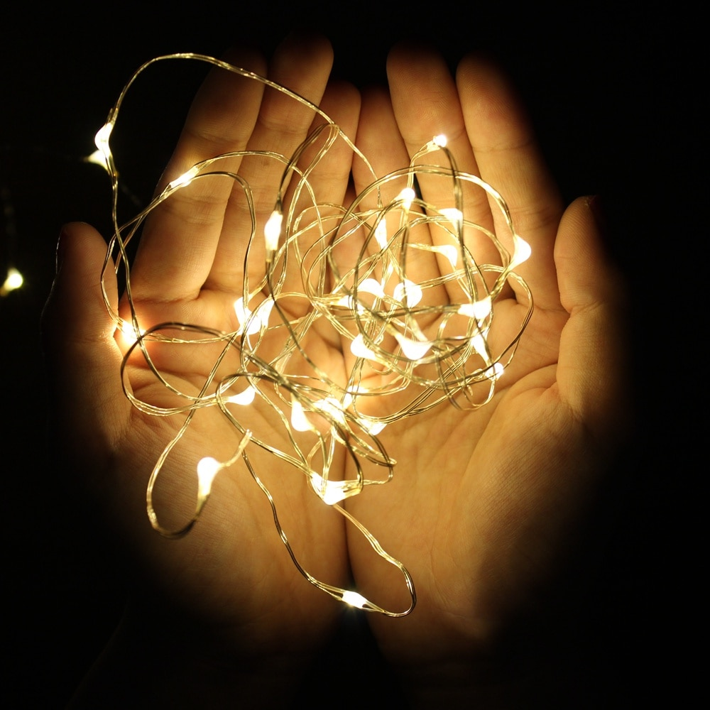 100 led string lights 10m 5m 1m usb waterproof copper silver wire garland fairy lights for christmas decoration wedding party 1M 2M 5M 10M Fairy Lights Copper Wire LED String lights For Christmas Garland Wedding Party Indoor Room Decoration Battery USB