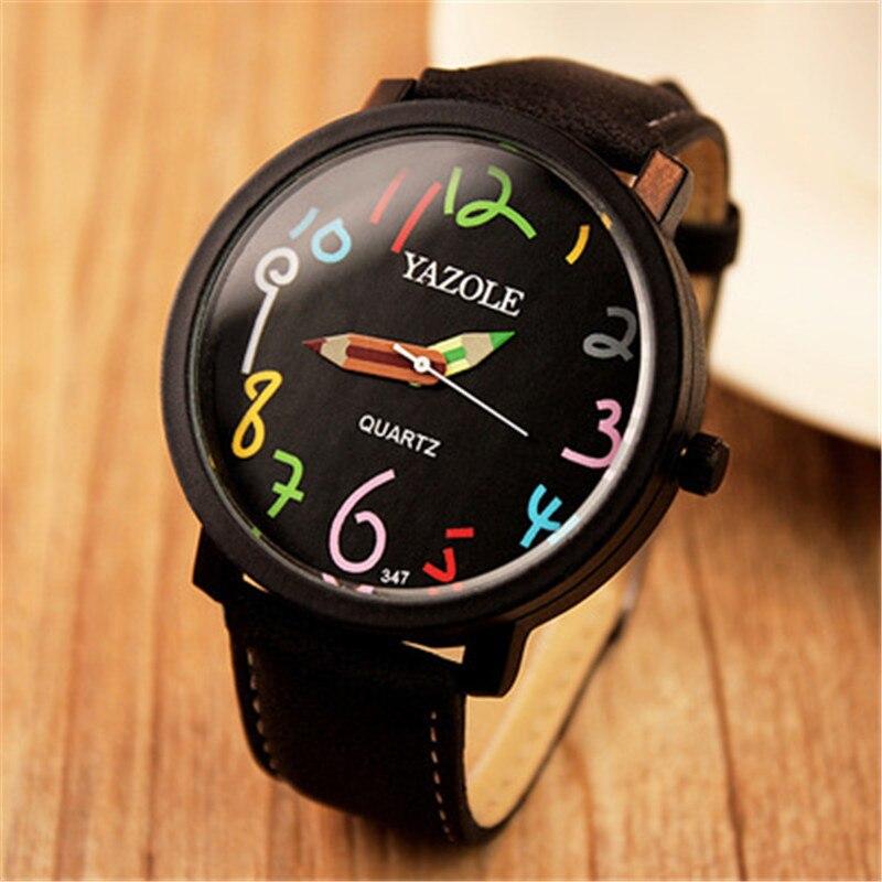 ¡Novedad de 2019! Elegantes relojes para mujer YAZOLE, reloj de marca superior, reloj Hodinky de cuero para mujer, reloj de cuarzo Saats montre femme