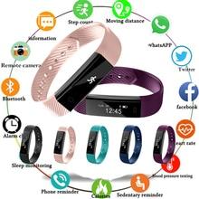 2019 Bracelet intelligent pas à pas Fitness SmartBand réveil Vibration Bracelet pk ID107 fit bit miband2 montre coeur pk M2 Y5