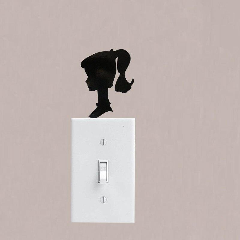WANGZHIMING новый мультфильм DIY 3d настенные наклейки для детских комнат, винтажные настенные наклейки Барби для украшения спальни, дома, гостиной
