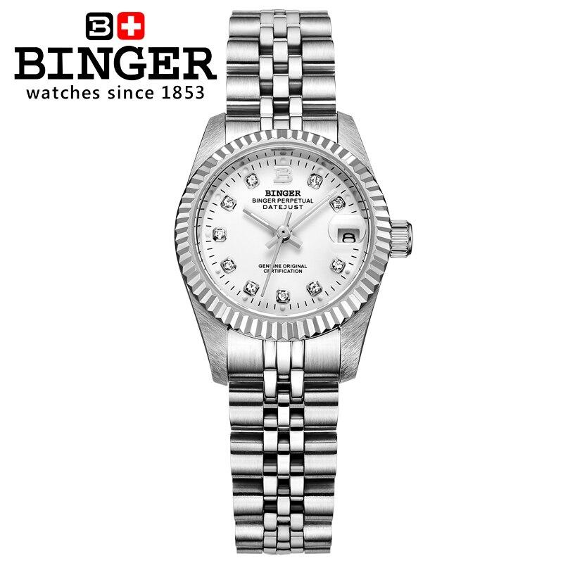 Switzerland Wristwatches BINGER Women's watches self-wind automatic winding mechanical Wristwatches BG-0375 enlarge