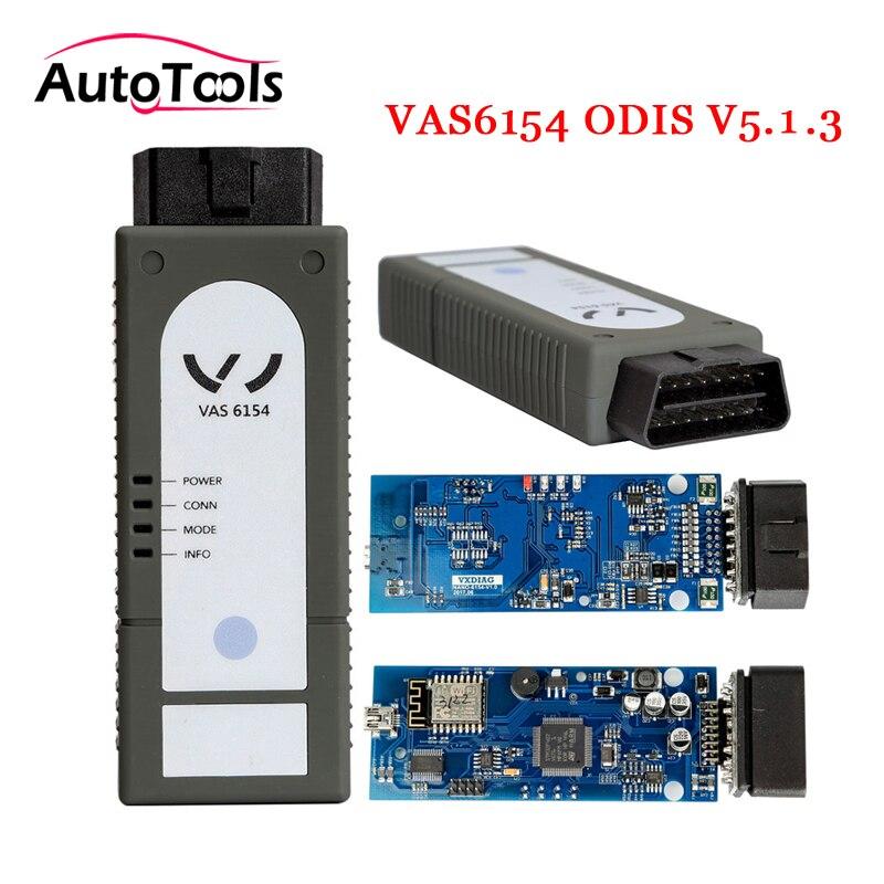 2 ps/lote DHL WIFI VAS6154 ODIS V5.1.3 para VAG car diagnóstico-herramienta nuevo reemplazo para VAS5054A/VAS5055