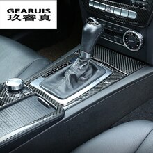 Cubierta de Panel de Cambio de marchas para consola central de fibra de carbono para Mercedes Benz clase C W204 accesorios interiores