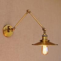 Loft Industrial adjustable long swing arm Wall lamp Fixture Vintage E27 Edison LED bulb wandlamp lamparas de pared lights lampen