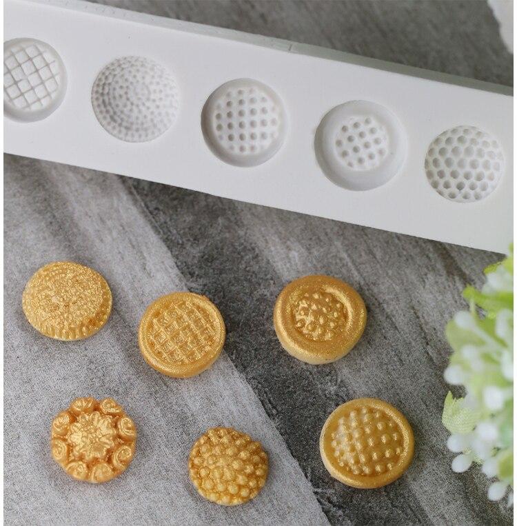 Luyou molde de silicona con forma de botón bonito 3D molde de chocolate fondant molde de tarta de silicona herramienta de decoración estera de encaje FM1236