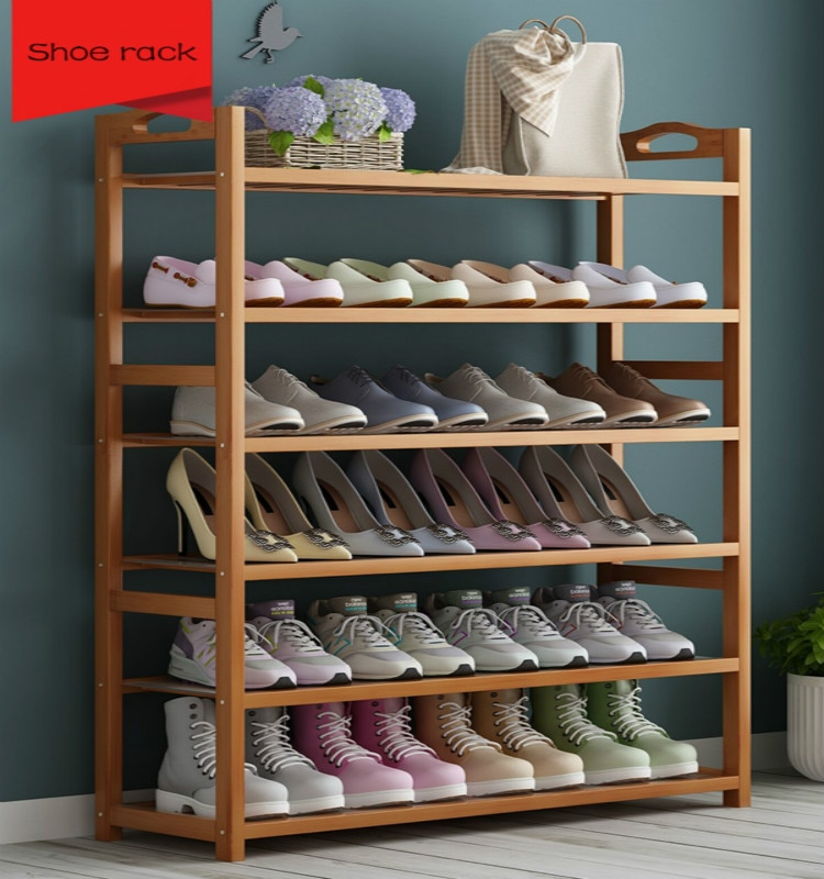 حذاء بسيط رف عنبر المنزل متعددة قصة الاقتصاد خشب متين خزانة خذاء الخيزران رف الحذاء Zapatero Organizador دي Zapatos