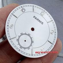 38.9mm cadran blanc adapté Unitas ETA 6498 st mouvement hommes montre boîtier no2