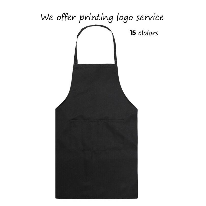 Кухонный Фартук для готовки, чистый цвет, фартуки для барбекю, для женщин, мужчин, шеф-повара, кафе, магазина, для парикмахеров, нагрудники с логотипом на заказ, оптовая продажа