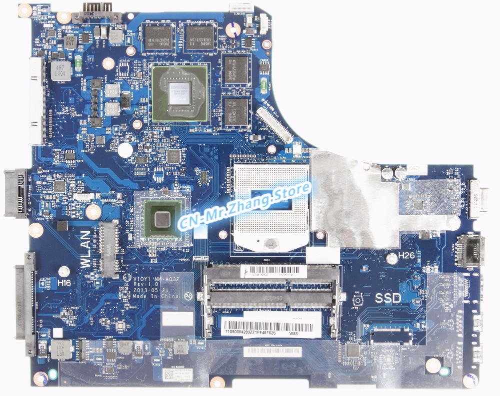 SHELI FOR Lenovo Y510P Laptop Motherboard NM-A032 VIQY1 W/ GT750/GT755 GPU 2GB RAM DDR3