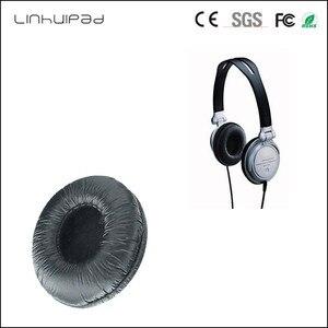 Linhuipad V150 1 pair MDR V250 headphone Leather Ear pads Cushions 70mm diameter for Sony MDR-V150 V250 V300 7CM Headphone