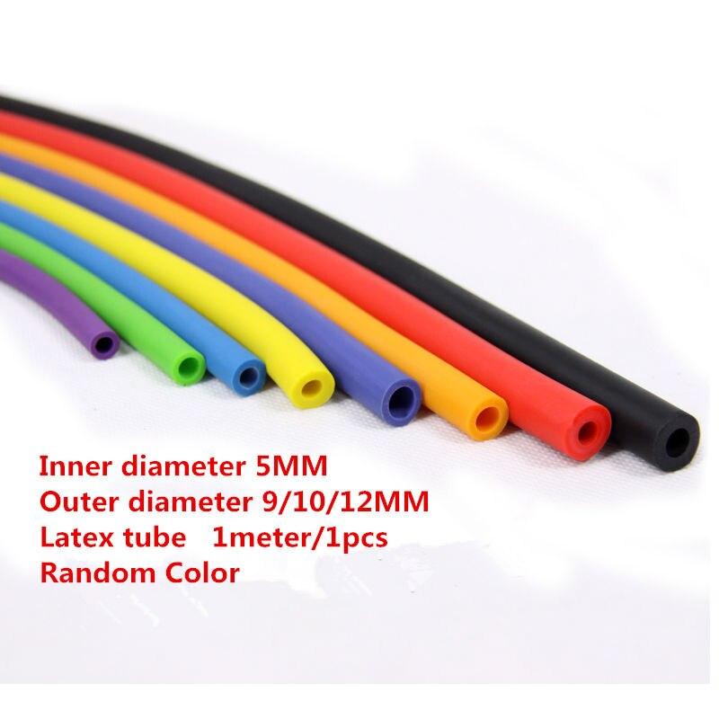 LT001-1 5 metros 5*9mm Tubo de látex cuerda elástica diámetro interior 5mm diámetro exterior 9 manguera goma mm Tubo elástico tirachinas