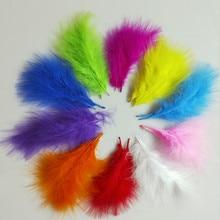Plumes de poulet Marabou pour carnaval   Usine, 20 pièces, 4-6 pouces 10-15 cm, Plumes de dinde Marabou, artisanat de bricolage pour Halloween noël