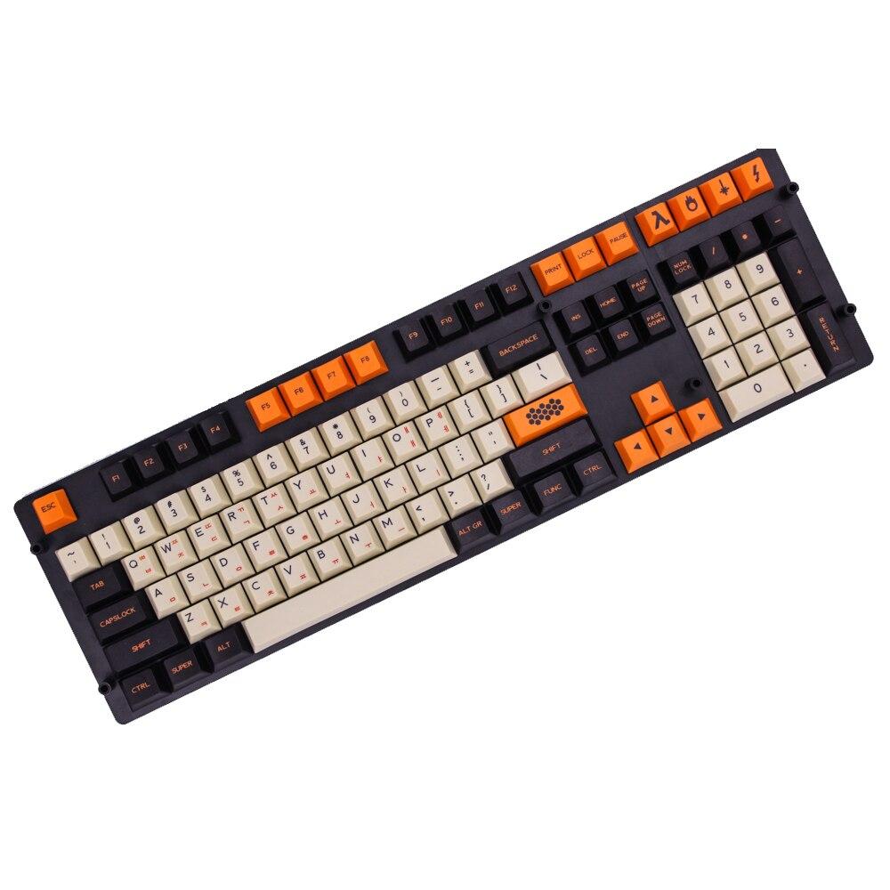 MP-أغطية لوحة مفاتيح ملونة كربونية ، إصدار إنجليزي/كوري ، PBT ، للوحة المفاتيح الميكانيكية