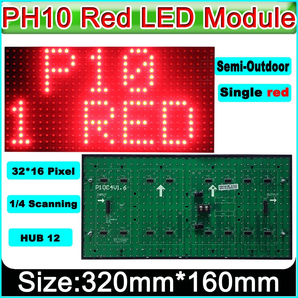 2019 NEW Red P10 Semi-outdoor LED Display Module,Message Board,Brand Sign High Brightness electronic moving text