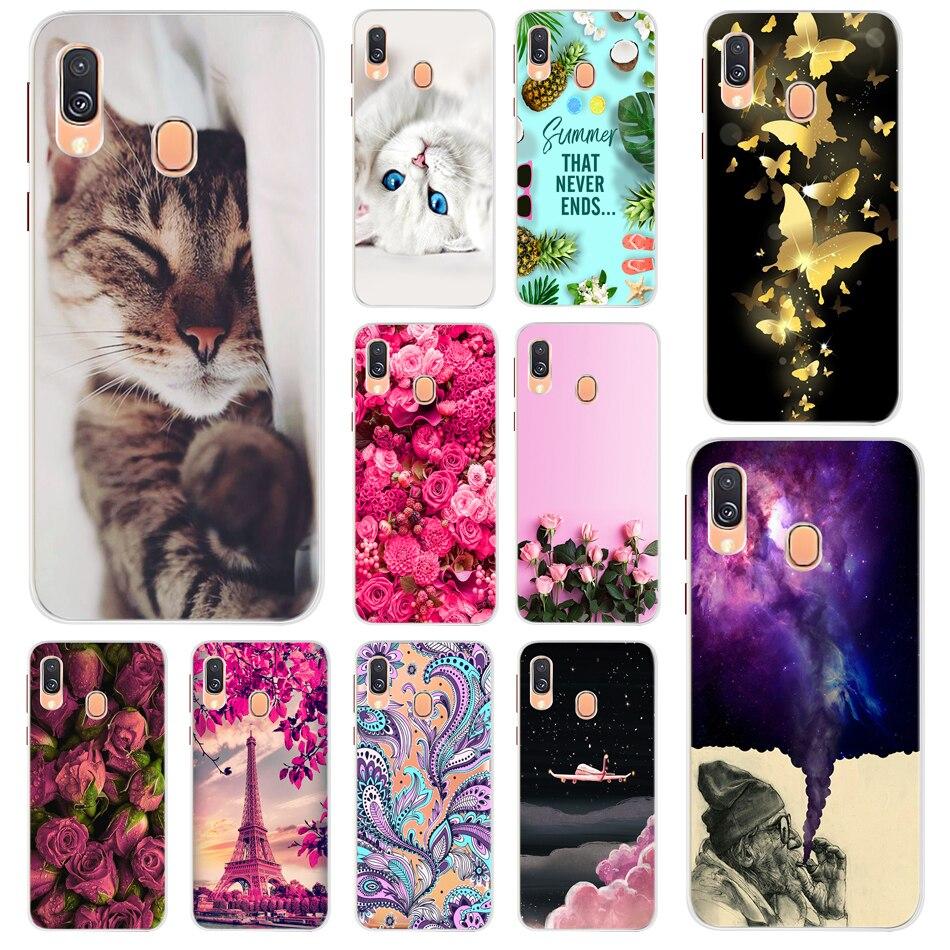 Moda Dos Desenhos Animados Caixa Do Telefone Para Samsung Galaxy A40 UM 40 A405 A405F SM-A405FN/DS Silicone Suave Tampa Traseira Para samsung A40 Funda