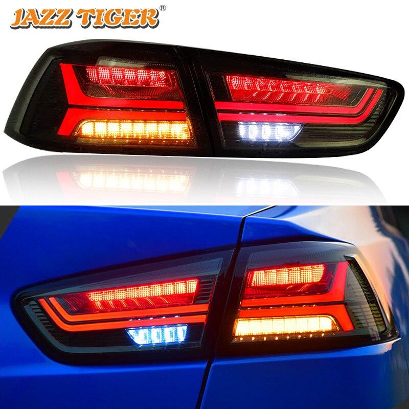 Araba Styling LED stop lambaları Mitsubishi Lancer EX 2009 ~ 2016 LED kuyruk lambası arka lamba DRL + fren + parkı + sinyal