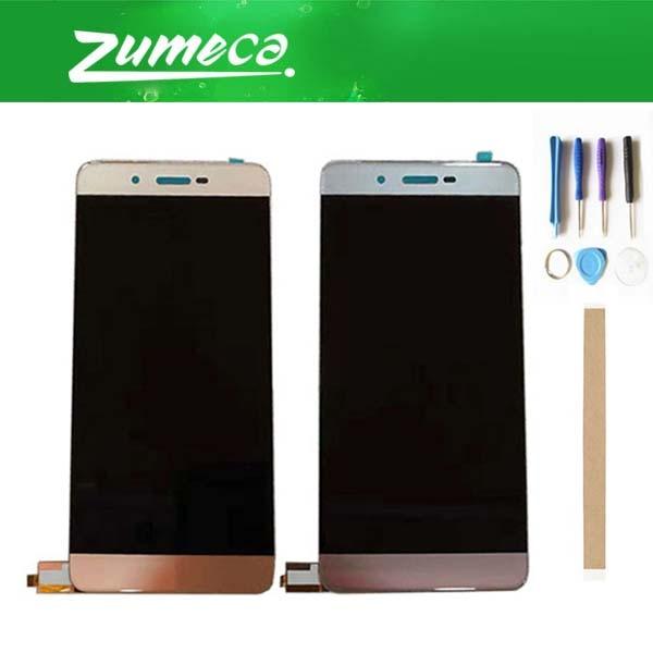 Pantalla LCD de alta calidad para Micromax Q4260 + digitalizador de pantalla táctil pieza de repuesto Color dorado gris + cinta y herramienta