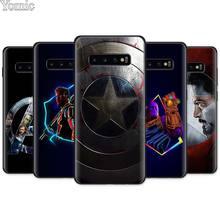Marvel super-héros les Avengers étui en Silicone noir pour Samsung Galaxy S20 Ultra 5G S10e S10 S8 S9 Plus A50 Note 8 9 étui souple