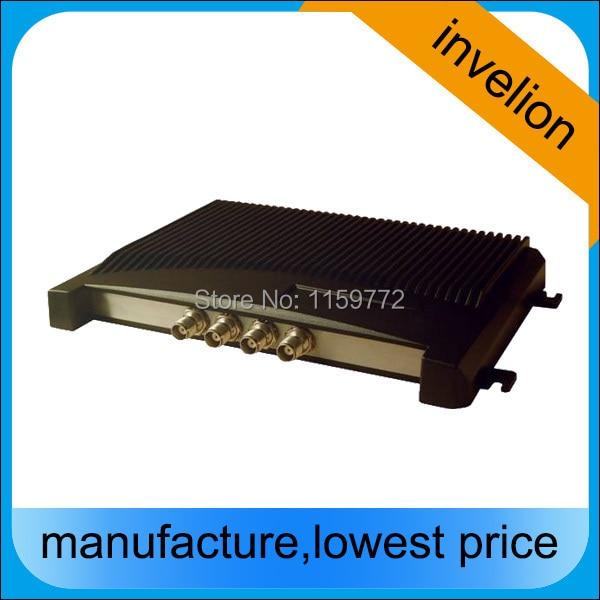 4 Puerto rfid uhf lector de largo alcance rfid pasivo fijo epc gen2 lector con múltiples Etiqueta de 840-960 mhz TCP/IP RJ45/Ethernet rs232