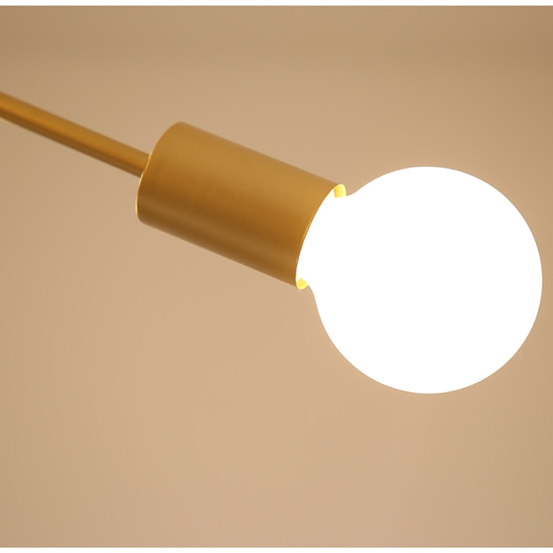 Nordic Modern Personality 5 Heads Ceiling Light Creative Multiple Lever Metal E27 Ceiling Lamp For Foyer Bedroom Apartment Cafe  - buy with discount