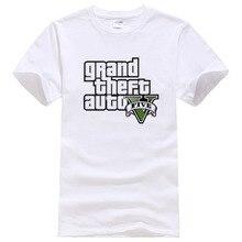 Gta-5 T Shirt Men GTA 5 T-shirt Men Summer Cotton Brand TShirts Homme Fashion Tops Camisa GTA Tees #043