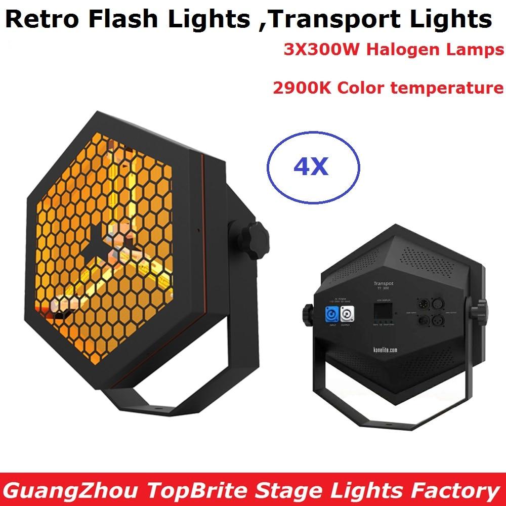 4XLot Dj plano Delgado Par alta potencia 3X300W lámparas halógenas Retro Flash luces DMX escenario alta iluminación envío rápido para Discos