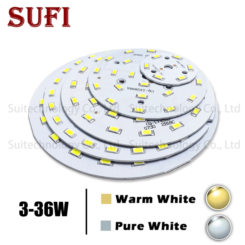 3W 5W 7W 9W 12W 15W 18W 21W 30W 36W LED Bulb Lamp SMD5730 Light Board Led Lamp Panel For DIY LED Bulb Ceiling PCB With LED
