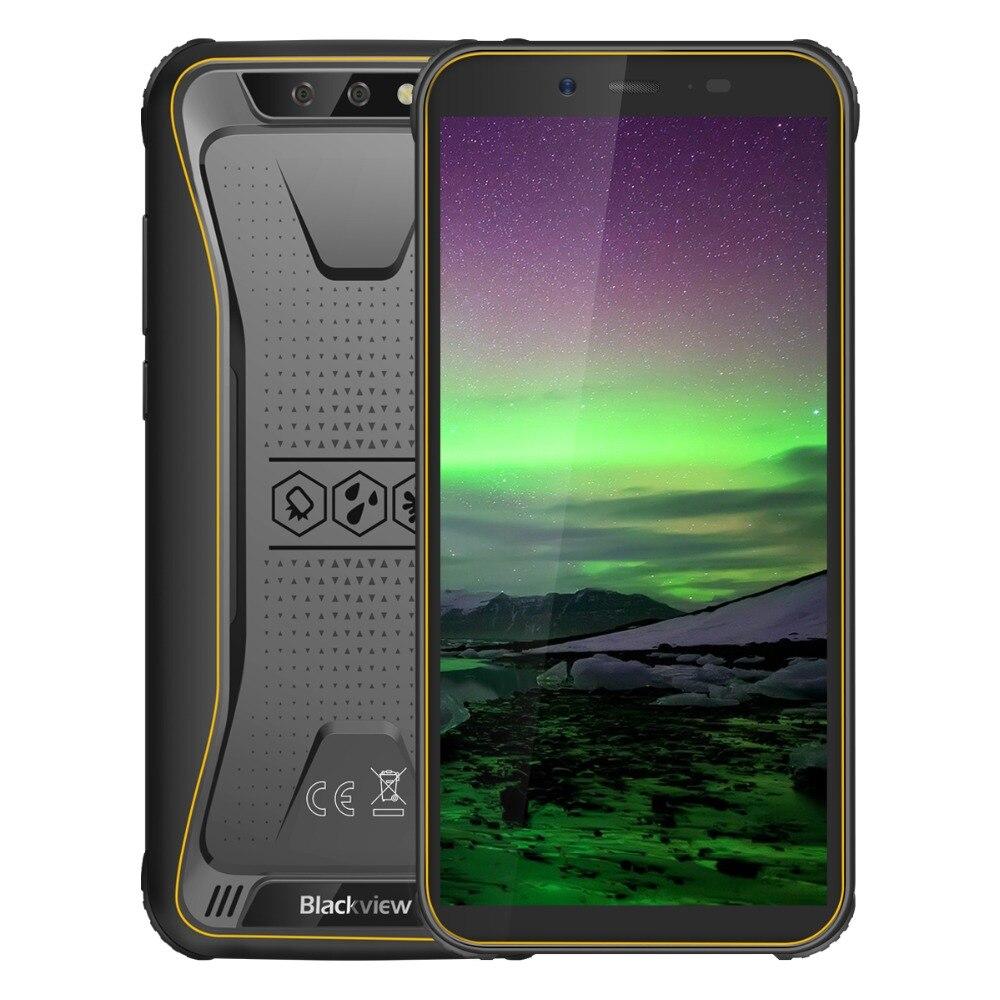 "Blackview bv5500 ip68 à prova dip68 água celular duplo sim smartphone áspero mtk6580p 2gb + 16gb 5.5 ""189 tela 4400mah android 8.1"