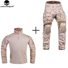EMERSONGEAR nouveau G3 Combat uniforme chasse armée militaire Multicam chemise pantalon tactique avec genouillères AOR1 désert