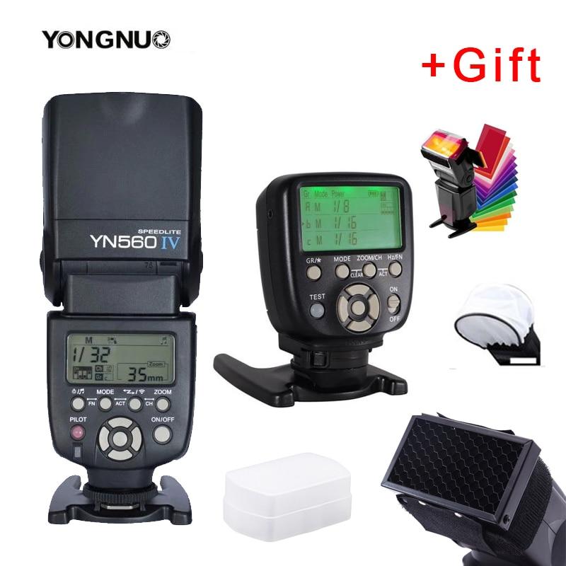 Вспышка Yongnuo YN560IV YN560 IV YN 560 Speedlite с триггерным контроллером YongNuo YN560-TX II для камер Canon Nikon Fuji