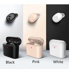 Mini auricular estéreo inalámbrico con Bluetooth 4,2 de BL1 para deportes con caja de carga, auricular con micrófono, auricular, batería externa de 700mAh