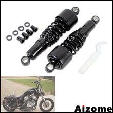 "Zwart 267 Mm 10.5 ""Rear Slammer Achterschokdempers Verlagen Kit Voor Harley Dyna Sportster Touring Fxd Xl 1200 883 flh Flt 1980-2016 2017"