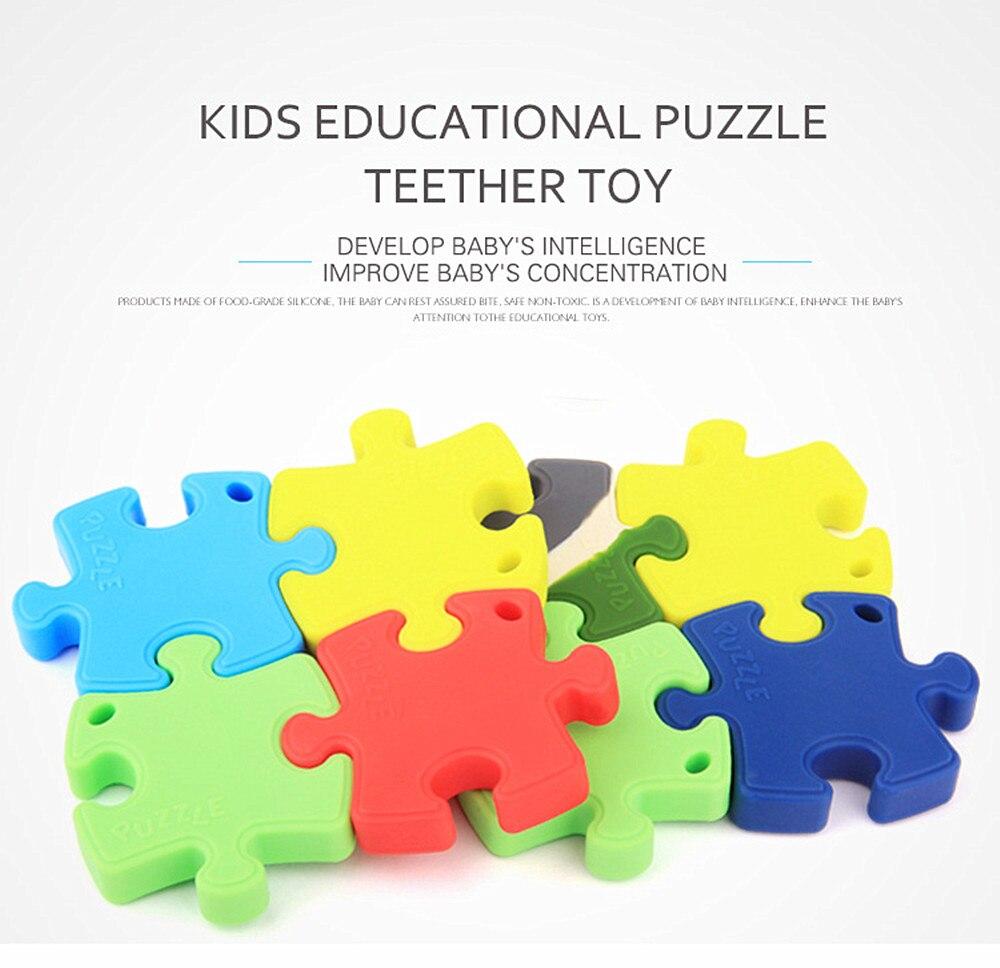 Chenkai-حلقة تسنين سيليكون للأطفال ، ألغاز ، دمية ، حلقة تسنين قابلة للمضغ ، قلادة التمريض ، مجوهرات ، 20 قطعة