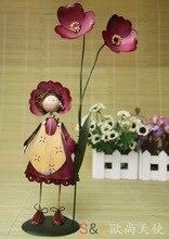 Metal Doll Decoration Home Accessories Garden Figure 29*8* 14 cm
