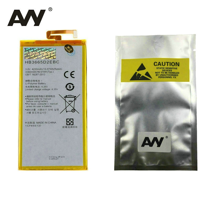 AVY Battery HB3665D2EBC For Huawei P8 Max 4G W0E13 T40 Mobile phone Replacement Li-polymer Batteries 4230mAh 100% Tested enlarge
