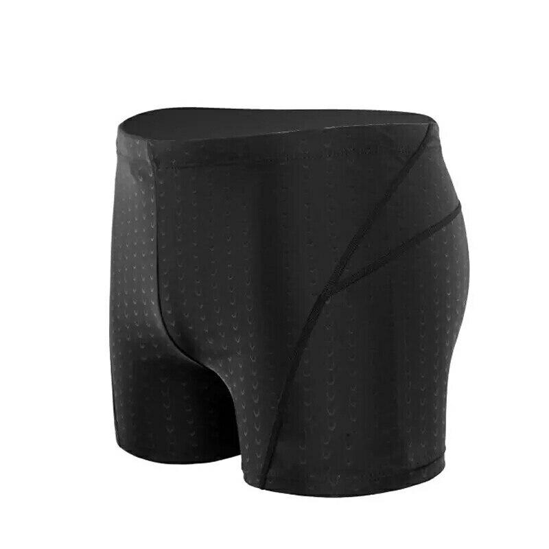De gran tamaño Modis verano sólido negro para hombre Pantalones cortos nadar tronco de cintura alta de secado rápido nadar pantalones bañador tipo bóxer corto deporte homme