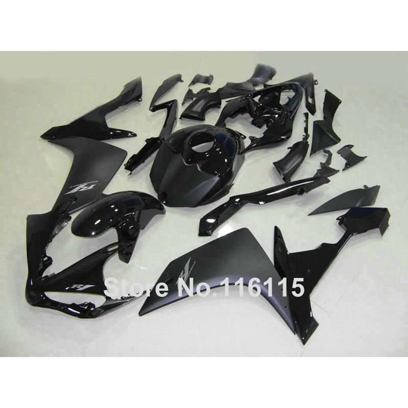 Injection molding fairing kit for YAMAHA R1 2007 2008 YZF-R1 07 08 matte & glossy black fairings set CF24