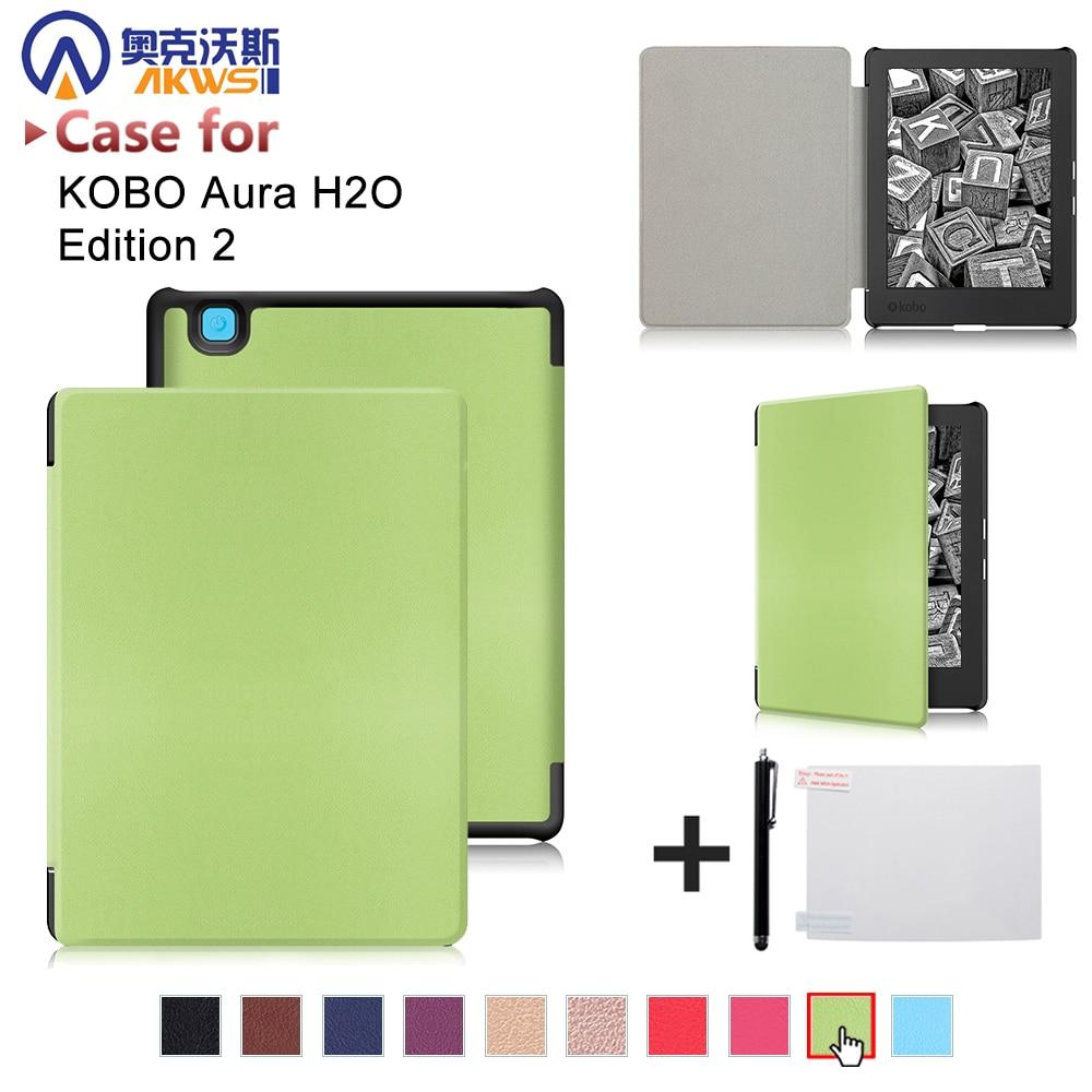 """Чехол-книжка для 2017 Kobo aura H2O edition 2 6,8 """"Водонепроницаемый чехол для e-reader из искусственной кожи"""