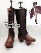 Anime Vocaloid Hatsune Miku Senbonzakura di Halloween Delle Ragazze Cosplay Stivali Lunghi Scarpe