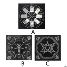 49x49cm Tarot nappe Triple lune pentagramme païen autel Tarot tissu flanelle