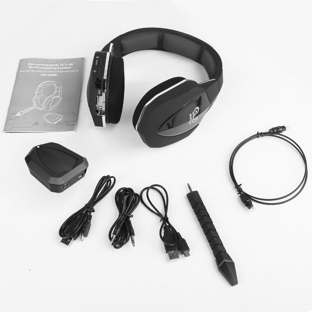 2.4Ghz Optical Wireless Gaming Headset for XBox 360, PS3/4, PC,Xbox One,Professional Stereo Video Game Headphones wireless enlarge