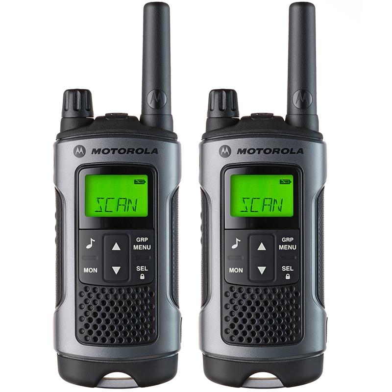 2 pcs Motorola Splash Proof Exterior two way radio NiMH batteries Long Range Talkie Walkie Tlkr T80 With Display