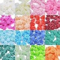 Fleurs artificielles pour decoration de mariage  4CM  20 pieces  tetes de roses en mousse PE  bricolage  Scrapbooking  Bouquet de fausses fleurs  decoration de maison