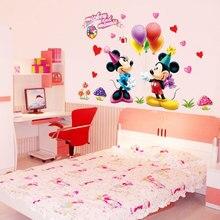 Mickey Mouse et Minnie autocollants muraux pour chambre, enfants, garçons, filles, 602 Décor Mural pour chambre de pépinières enfants,