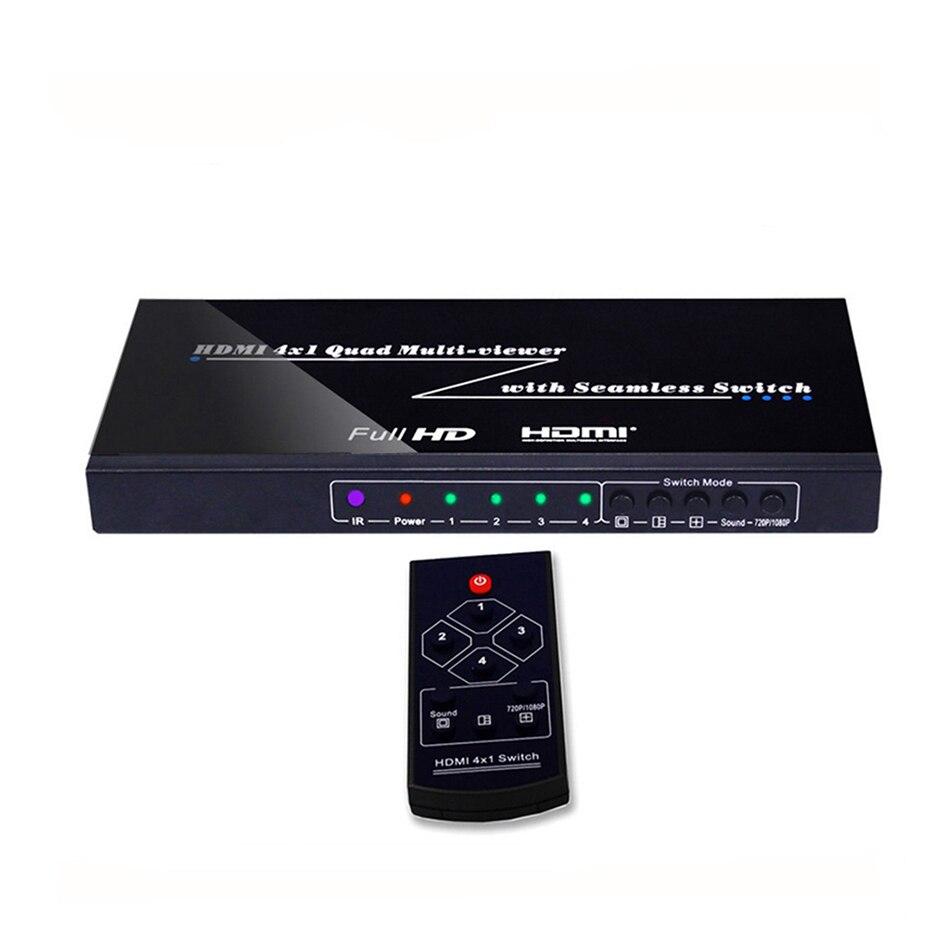 Divisor multiviewer 4x1 do quadrilátero de hdmi multi-viewer com resolução sem emenda da saída do controle do ir do switcher até 1080p